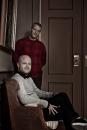 Portret Gilles de Smit (zittend)  en Vincent Reinders