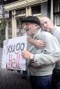 Franse demonstrant tegen homohuwelijk