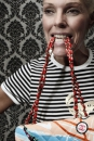 Portret van modemuze Judith Osborn