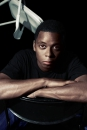 Portret van de rapper / hip-hopper Typhoon