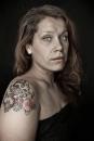 Portret student met tatoeages